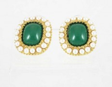 Cabouchon-errings-emerald