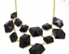 Ice Cube necklace black-1050