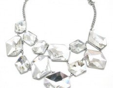 Ice Cube necklace clear-1050