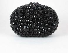 Stone clutch black-450