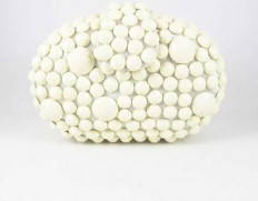 Stone clutch creme-450