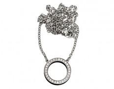 78632 Eternity necklace steel long
