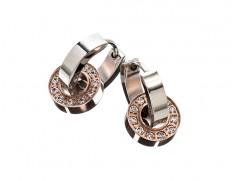 79114 Eternity orbit earrings rosegold/steel