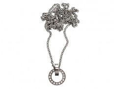 79107 Eternity orbit necklace long steel