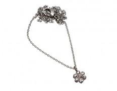 Belle flower necklace steel