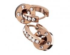 Ida orbit earrings rose gold