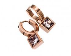 Quadrat orbit earrings rose gold