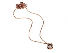 Thassos necklace long rose gold
