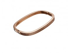 Jolie bangle cz rose gold