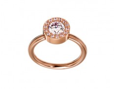 Thassos ring rose gold