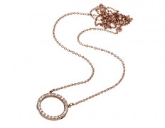 Glow necklace large rose gold